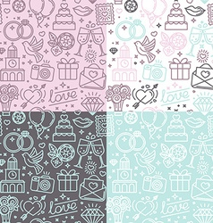 seamless pattern and background for wedding vector image