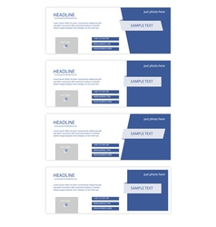 set of facebook timeline covers vector image vector image