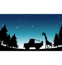 Silhouette safari vector image vector image