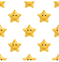 starfish seamless pattern vector image