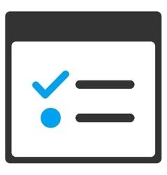 Todo items calendar page toolbar icon vector