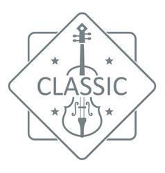 violin logo simple gray style vector image vector image