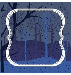 Background of snowfall in forest vector image