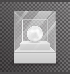 Glass box isolated 3d realistic shop mockup vector