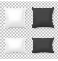 Realistic blank white black square and vector