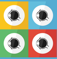 Eye icon flat design vector