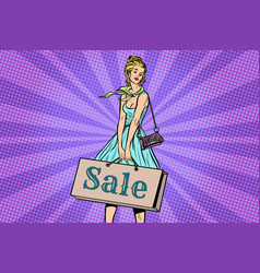 Beautiful young woman on sale vector