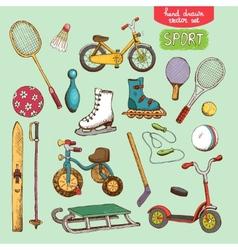 sport toys set vector image