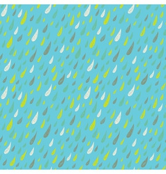 Cute seamless childish texture with colored rains vector