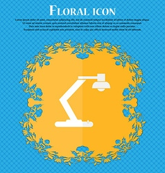 Light bulb electricity icon sign floral flat vector