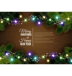 Christmas lights borger decoration season vector