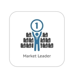 Market leader icon business concept flat design vector