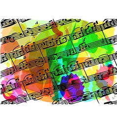 Colorful musical notes book vector