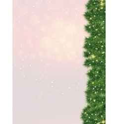 Christmas fur-tree card eps 8 vector