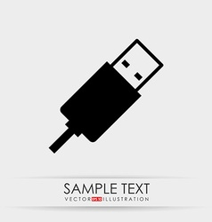 Usb plug design vector