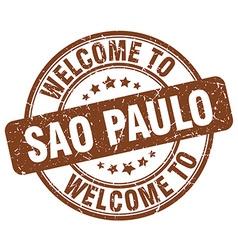 welcome to Sao Paulo vector image