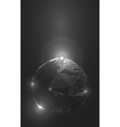 Abstract of Planet Earth in Space vector image