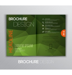Abstract template brochure design with geometric vector image