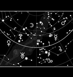 astronomical celestial atlas fragment vector image