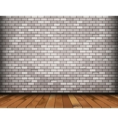 Background with bricks and wooden floor vector