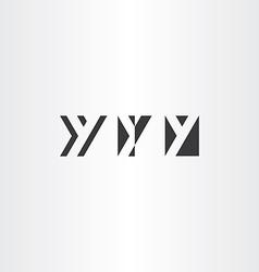 black icons letter y set design elements vector image