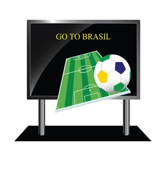 bollboard with message of football vector image vector image