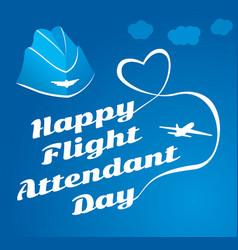 Card day flight attendant vector