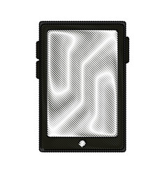 Color blurred stripe of tablet tech device icon vector