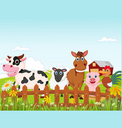 farm animal cartoon vector image vector image