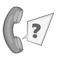 Handset icon gray monochrome style vector image