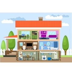 House with rooms vector