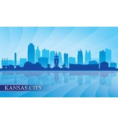 Kansas City skyline silhouette background vector image
