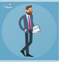 man with document folder vector image
