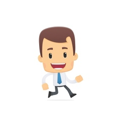 manager in various poses vector image vector image