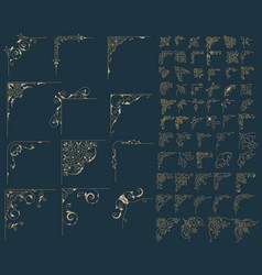 Mega set 78 corners vector image