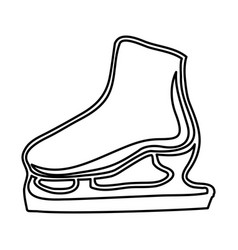 Monochrome contour of ice skate vector