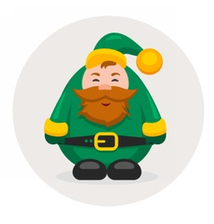 new year and Christmas adult dwarf vector image