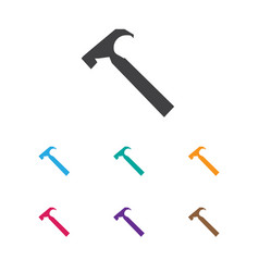 Of trip symbol on hammer icon vector
