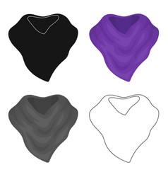 Purple arafatka for cowboyscarves and shawls vector