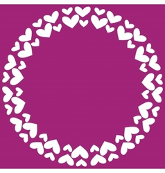Round frame with hearts vector image vector image