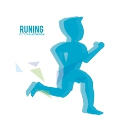 Running design fitness concept white background vector image vector image