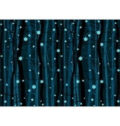 Seamless winter wood forest branches night pattern vector image vector image
