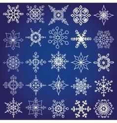 Snowflakes shapes big setChristmaswinter decor vector image vector image