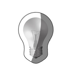 sticker realistic modern light bulb off vector image