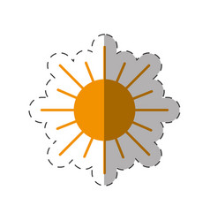 sun energy natural icon vector image