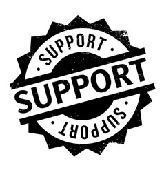 Support rubber stamp vector