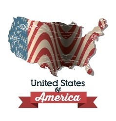 united states of america icon vector image