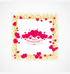 valentines day greeting card with gold vector image vector image