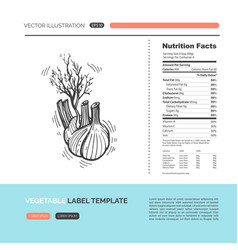 vegetable concept vector image vector image