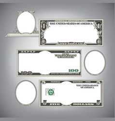 Blank Money vector image